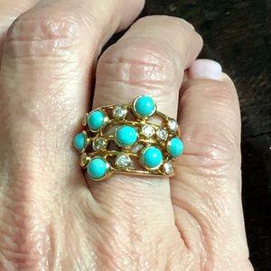 Ippolita Jewelry - Ippolita Turquoise/Diamond Ring